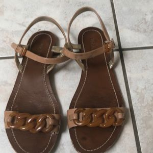 Preloved Prada super cool sandals /tortoise shell